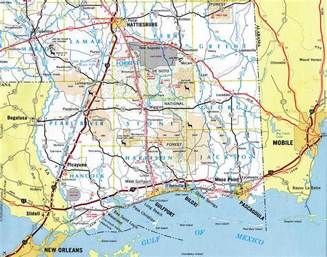biloxi map interstate guide interstate 10