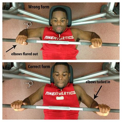 elbows in bench press pin by chris haywood on my workouts pinterest