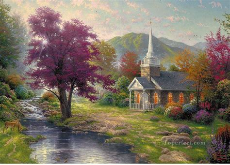 streams of living water kinkade landscapes painting