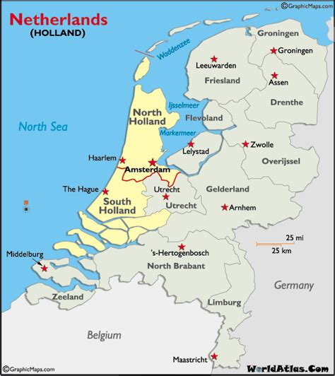 netherlands capital map map and map of history information page