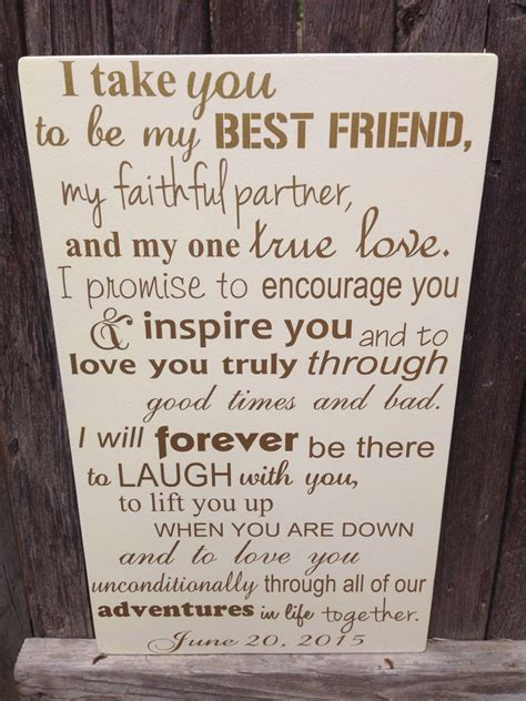 First Anniversary Gift for Him Wedding Vows Sign 1st