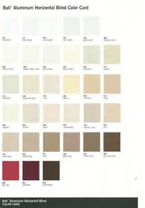 Bali Solar Blinds Horizontal Blinds Color Chart Commercial Drapes And Blinds
