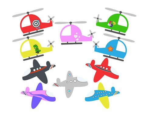Arts And Crafts Rug Sale Planes Clipart Set Helicopters Clip Art Set