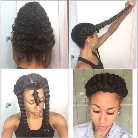 protective styles double braid and girls on pinterest double braid halo natural protective styles for summer