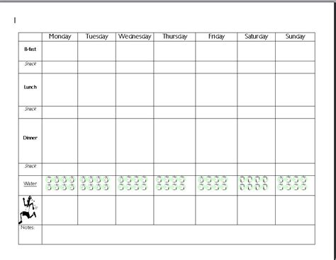 food planning template get fit and feel great with this take a look http
