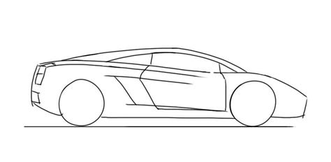 lamborghini aventador drawing outline lamborghini drawing outline side on cars