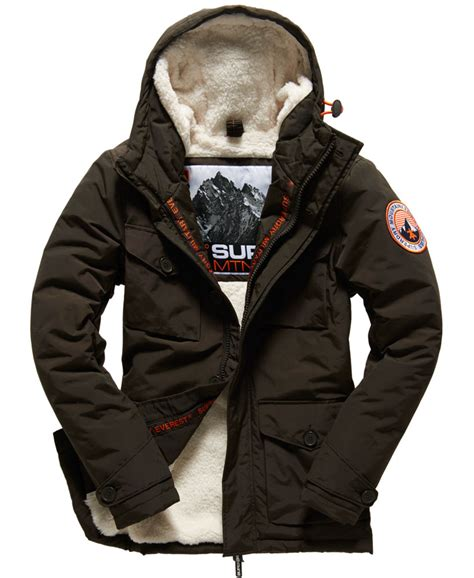 Parka Army Six Pocket new mens superdry everest coat army ebay