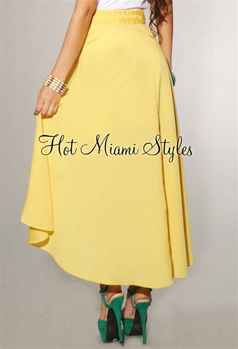 White Asymmetric Set Topskirt Size Sm 14548 yellow woven waist high low skirt
