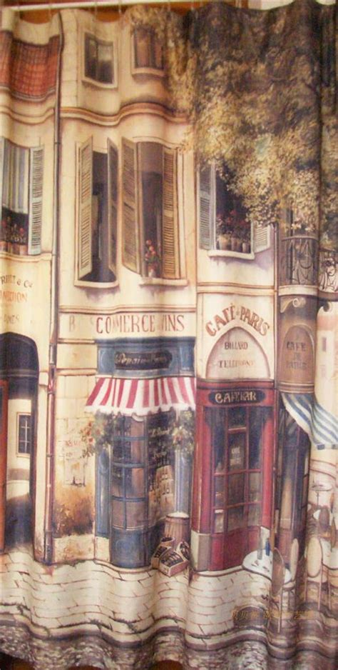 paris cafe curtains french country paris cafe house shower curtain c style ebay