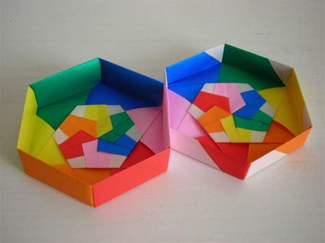 Origami Hexagon Box - caja de origami caja hexagonal s 243 lido origami