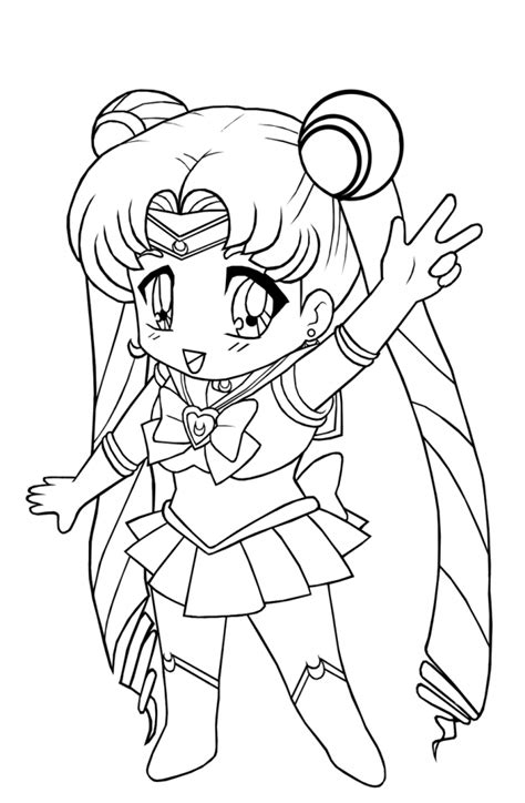 coloring pages of chibi free printable chibi coloring pages for kids