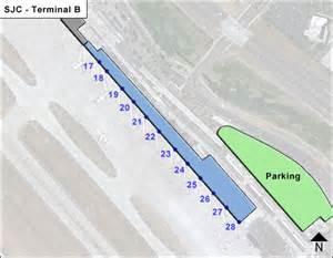 San Jose Airport Map by Sjc San Jose Mineta Airport Terminal Maps