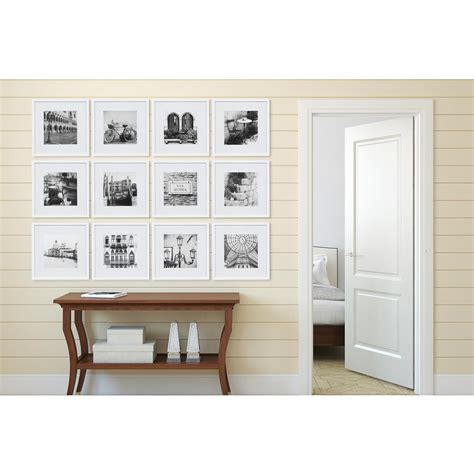 wall collage frame set gallery 8 in x 8 in white collage