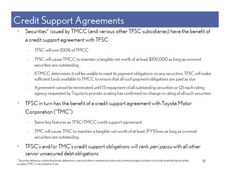 Credit Agreement Sec Form Tmcc Products And Services Consumer Dealer Commercial Finance Finance Finance Retail