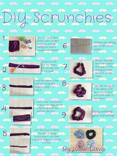 Easy Floral Designs diy projects for you to make a pretty scrunchie pretty