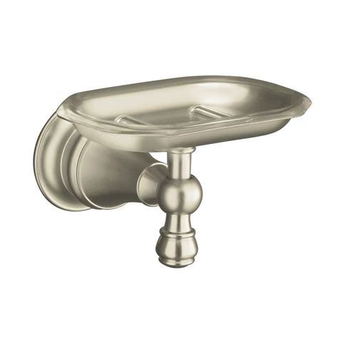 kohler bathroom accessories brushed nickel kohler revival soap dish in vibrant brushed nickel k 16142