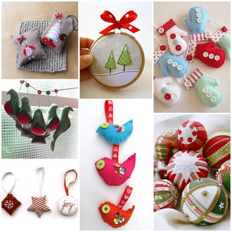 Handmade Sewing - tree decorations sewing decorating