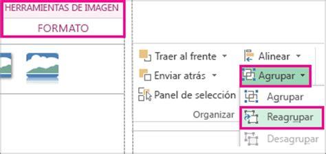 seleccionar varias imagenes word mac agrupar o desagrupar formas im 225 genes u otros objetos