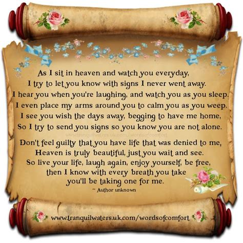 in heaven poem as i sit in heaven just say it