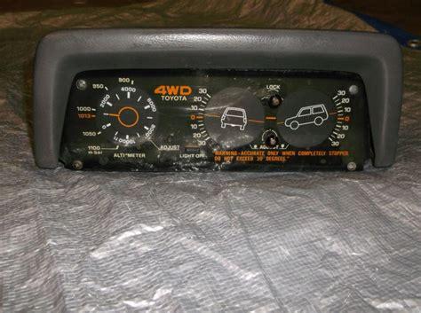 Toyota 4runner Inclinometer Purchase Toyota Sr5 Truck 4runner Altimeter