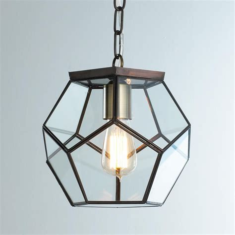 Clear Glass Pendant Lights For Kitchen Clear Glass Prism Pentagon Pendant Light Pendant Lighting Pendants And Glass