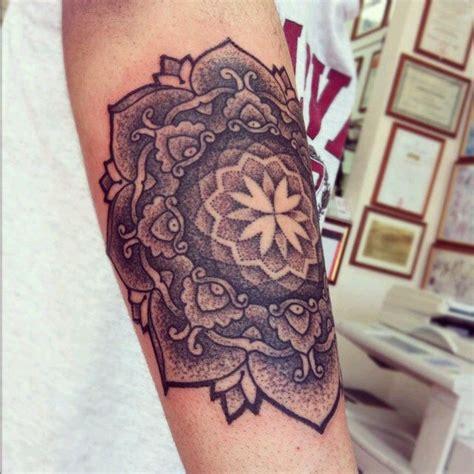 mandala tattoo in white cool black and white mandala flower tattoo on arm