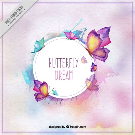 editar imagenes con vectores fondo de mariposas bonitas en estilo de acuarela