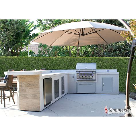 backyard superstore custom l shape bbq island by summerset superstore