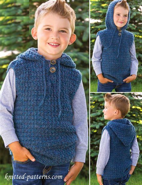 knitting pattern vest child children s hooded vest crochet pattern free free