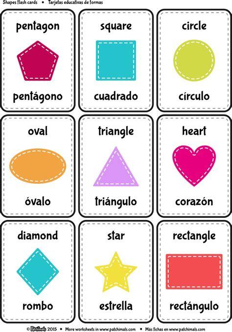 free printable shapes and colors flashcards испанский язык с мамой для детей с рождения spanisch