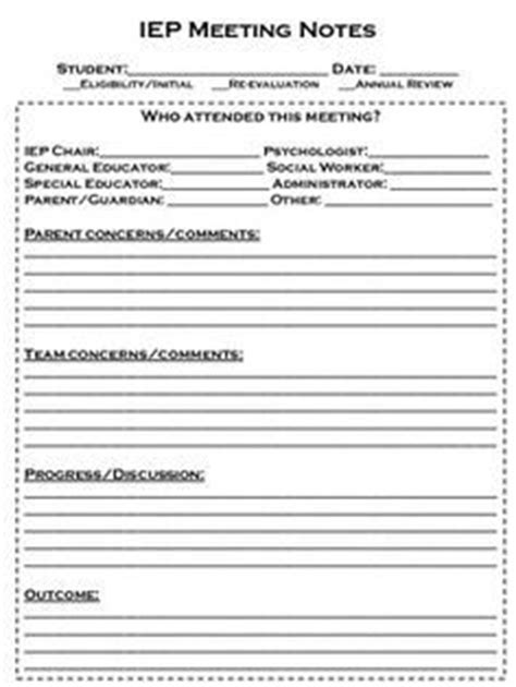Iep Meeting Note Form My Job Description Says Teacher They Really Mean Secretary Simple Iep Template