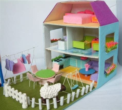 kids craft doll houses amazing felt doll house patterns for kid s interesting craft play kidsomania