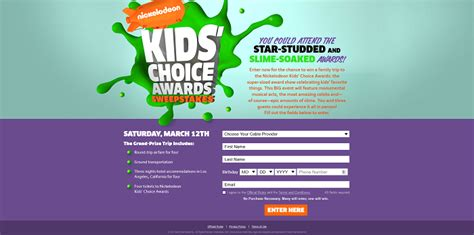 We Tv Sweepstakes - 2016 nickelodeon kids choice awards sweepstakes