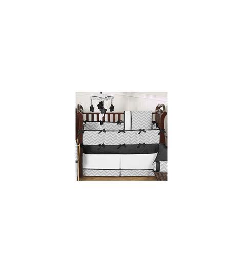Sweet Jojo Zig Zag Crib Bedding Sweet Jojo Designs Zig Zag Black Grey Chevron 9 Crib Bedding Set