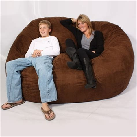 xl 6 fuf comfort suede bean bag fuf 6 ft xl bean bag chair espresso suede 0000181 by