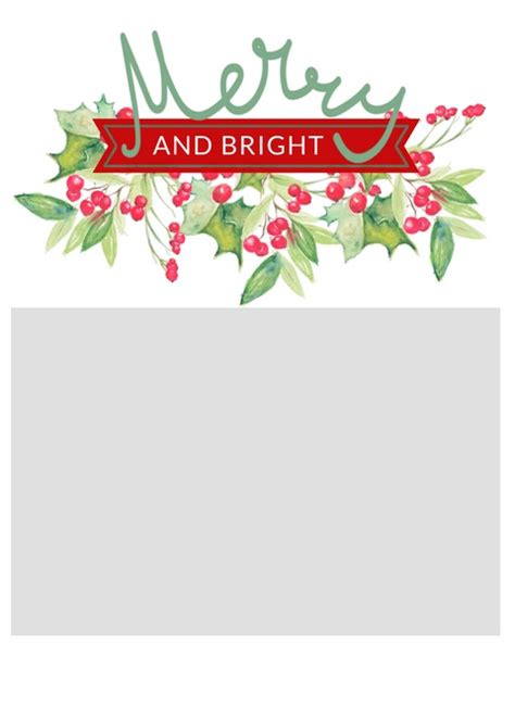 Free Christmas Card Templates The Crazy Craft Lady Merry Card Template