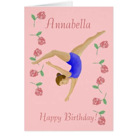 printable birthday cards gymnastics girls gymnastic gifts t shirts art posters other