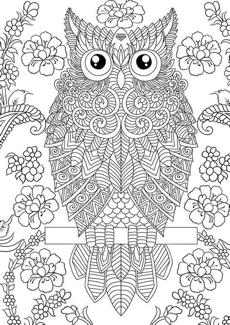 Para colorear on pinterest owl coloring pages owl and zentangle