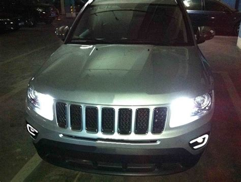 light yellow jeep for jeep compass 2011 2016 drl daytime running lights