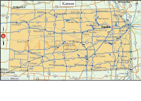 kansas state map printable us state maps printable state maps