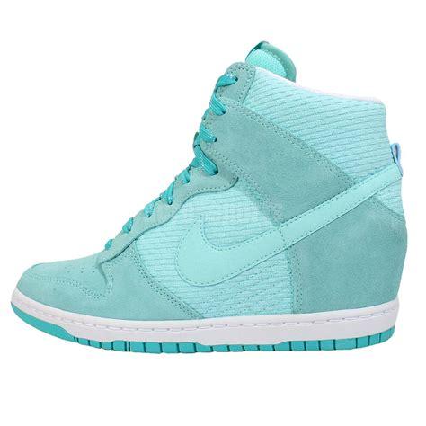 nike teal sneakers wmns nike dunk sky hi essential teal blue womens wedge