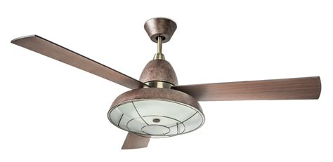 retro ceiling fan with caged light