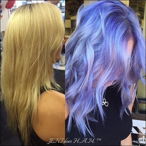 iridescent hair color beautiful makeover from to iridescent periwinkle