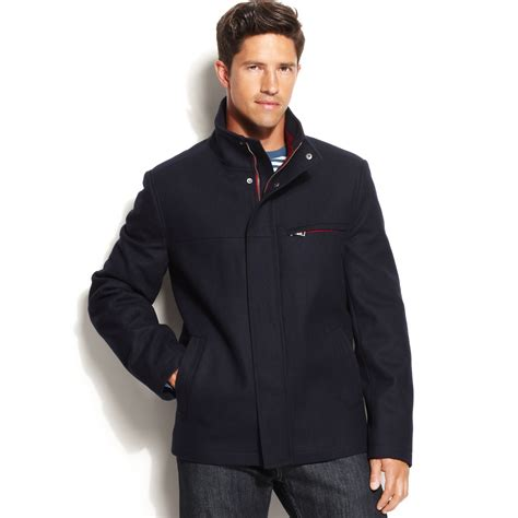 Wool Blend Jacket by Izod Jacket Wool Blend Bomber Jacket In Blue For Lyst