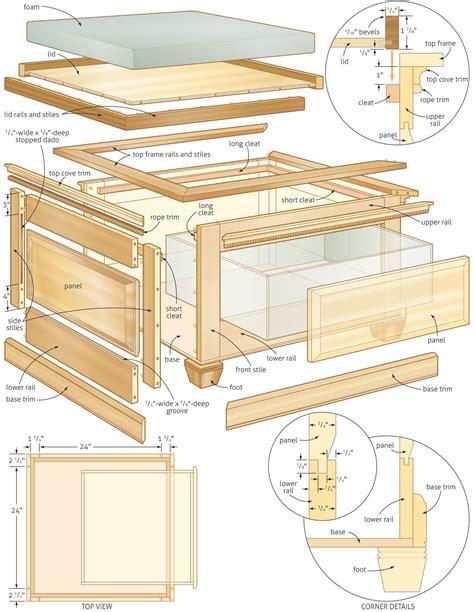 woodwork storage bench plans woodworking plans  plans