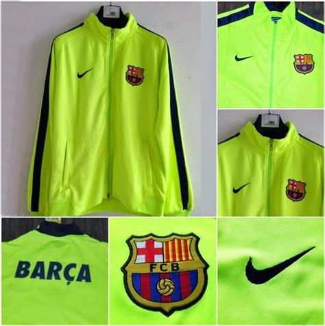 Jersey Grade Ori Pre Match Barcelona Yellow jaket barcelona n98 green yellow 2014 2015 big match