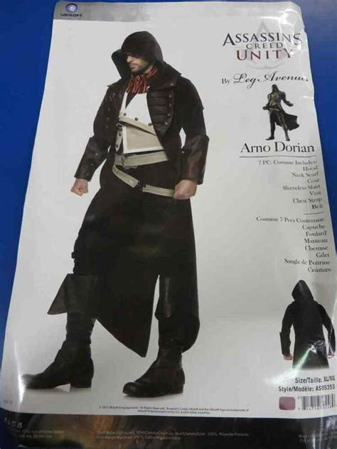 arno dorian assassins creed unity fancy dress  halloween deluxe adult costume ebay