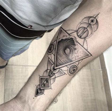 geometric tattoo trend tattoo trends geometric wave tattoo design by gabriel