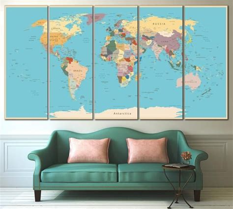 Canvas Uk 145 X 170 Digital Wall Wall Decor Hiasan Dinding 170 best world country maps images on country maps world maps and child room