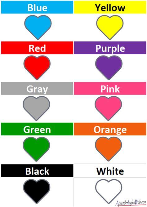 en imágenes en inglés colores en ingl 201 s descarga la lista de colores